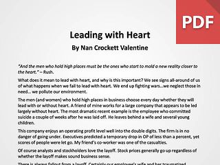 Article: Leading with Heart