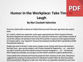 Article: Take Time to Laugh