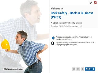 Back Safety – Back in Business™ (Part 1)