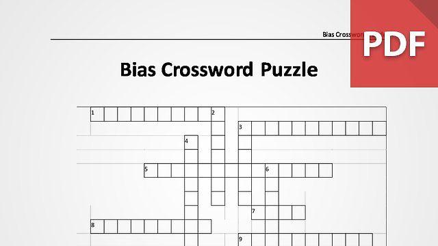 Bias Crossword Puzzle