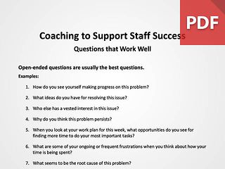 Coaching to Support Success