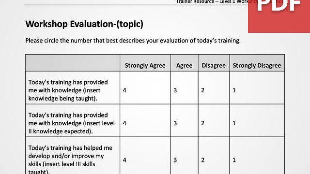 Customizable Workshop Evaluation