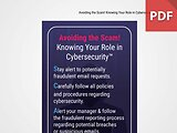 Discussion Card: Avoiding the Scam! Knowing Your Role in Cybersecurity™