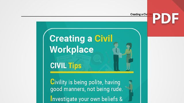Discussion Card: Creating a Civil Workplace