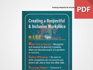 Discussion Card: Creating a Respectful & Inclusive Workplace