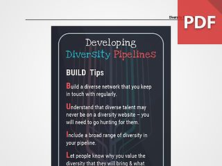 Discussion Card: Developing Diversity Pipelines