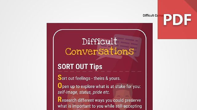 Discussion Card: Difficult Conversations