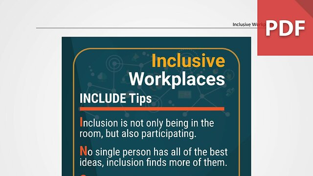 Discussion Card: Inclusive Workplaces