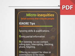 Discussion Card: Micro-inequities