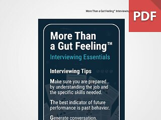 Discussion Card: More Than a Gut Feeling™ Interviewing Essentials