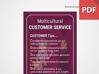 Discussion Card: Multicultural Customer Service