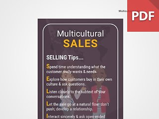 Discussion Card: Multicultural Sales