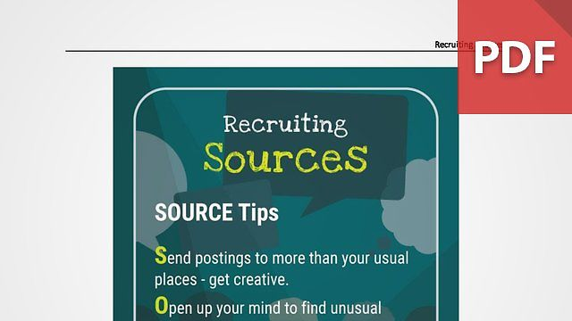 Discussion Card: Recruiting Sources