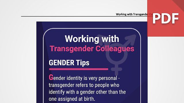 Discussion Card: Working with Transgender Colleagues
