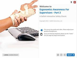 Ergonomics Awareness For Supervisors™ - Part 2