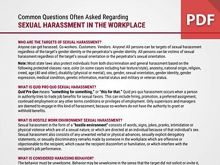FAQ - Sexual Harassment in the Workplace