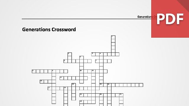 Generations Crossword Puzzle