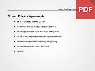 Ground Rules or Agreements