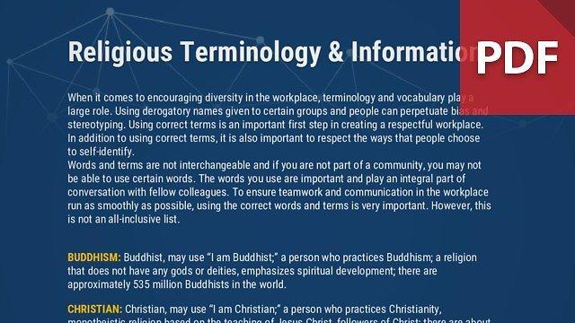 Info Brief: Religious Terminlogy & Information