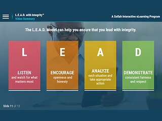 L.E.A.D. with Integrity™: Promoting a Culture of Ethical Conduct and Compliance - eLearning Classic