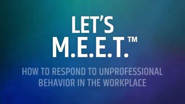 Let's M.E.E.T.™ Conflict Resolution Module