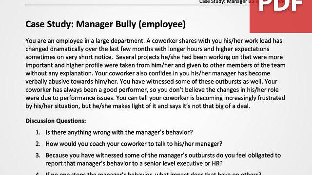 Manager Bully