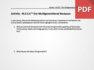 M.E.E.T.™ Multigenerational Workplace