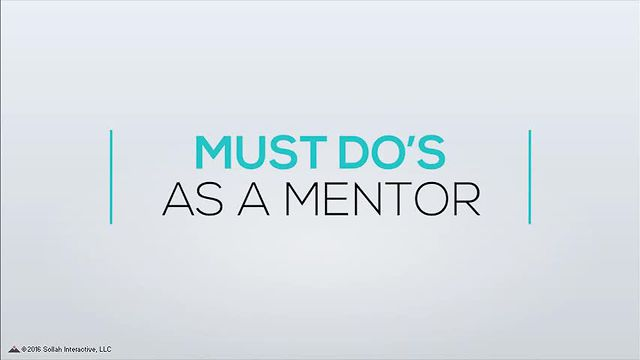 Must Do's As a Mentor
