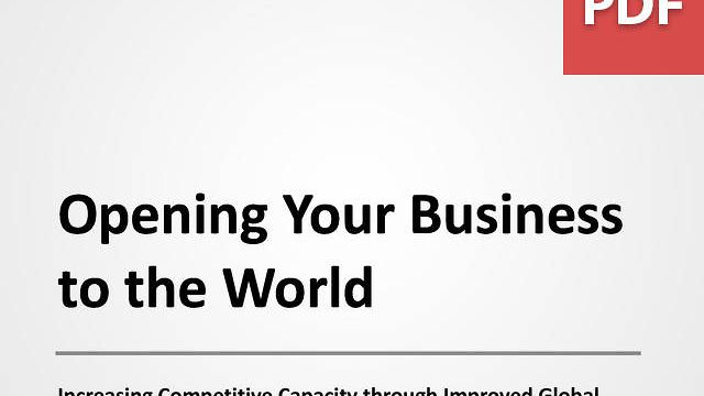 Opening Your Business to the World