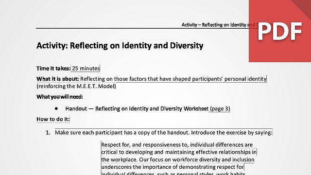 Reflecting on Identity and Diversity