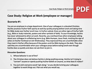 Religion at Work