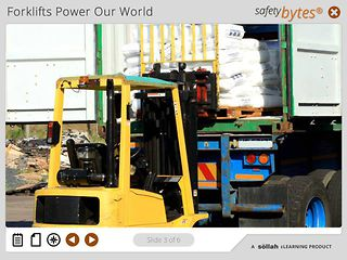SafetyBytes® - Forklift Safety Loading a Trailer