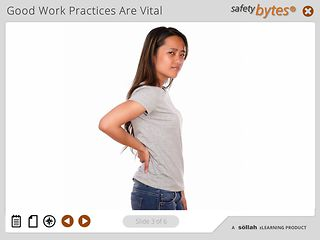 SafetyBytes® Preventing Ergonomic Disorders: Good Work Practices