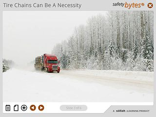 SafetyBytes® - Truck Tire Chaining - The Roll Over Method