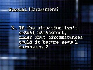 Sexual Harassment? You Decide - Program Opening