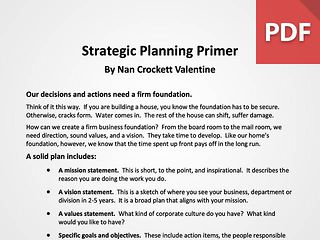 Strategic Planning Primer