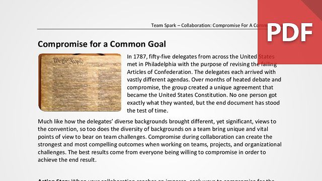 Team Spark: Compromise For A Common Goal
