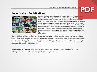 Team Spark: Honor Unique Contributions