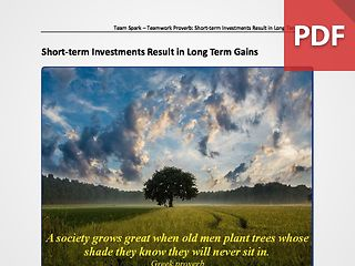 Team Spark: Proverb - Short-term Investments Result in Long Term Gains