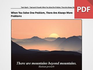 Team Spark: Proverb - When You Solve One Problem, There Are Always More Problems