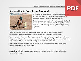 Team Spark: Use Intuition to Foster Better Teamwork