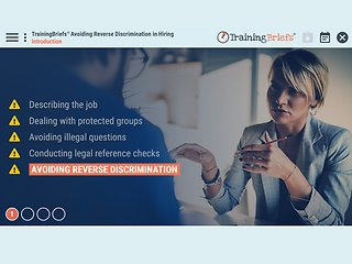 TrainingBriefs™ Avoiding Reverse Discrimination in Hiring