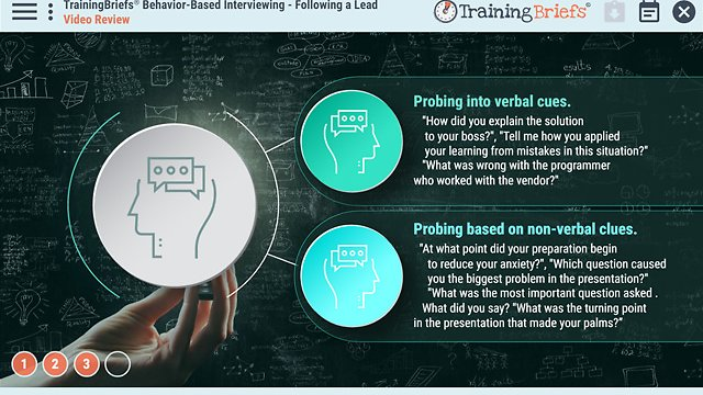 TrainingBriefs® Behavior-Based Interviewing – Following a Lead
