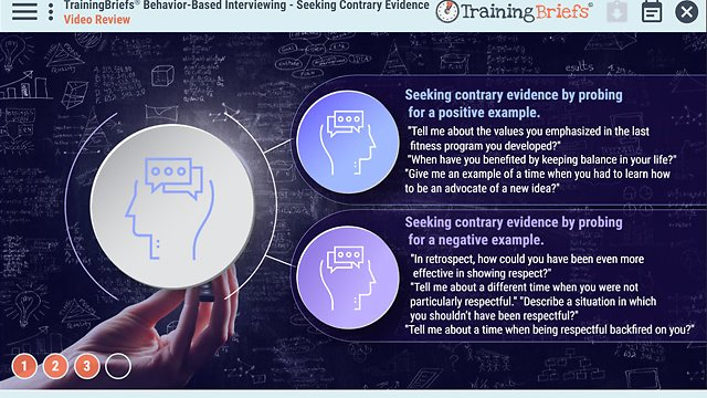 TrainingBriefs® Behavior-Based Interviewing – Seeking Contrary Evidence