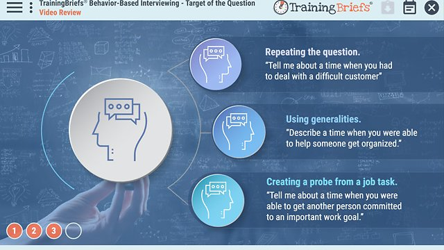 TrainingBriefs® Behavior-Based Interviewing – Target of the Question