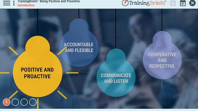 TrainingBriefs® Being Positive and Proactive