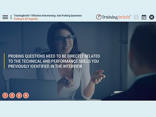 TrainingBriefs™ Effective Interviewing: Ask Probing Questions