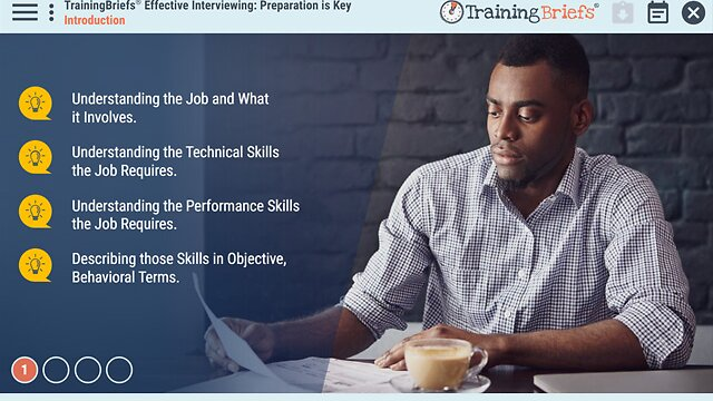 TrainingBriefs® Effective Interviewing: Preparation is Key