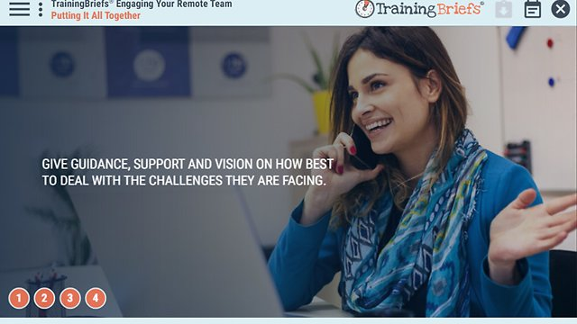 TrainingBriefs® Engaging Your Remote Team
