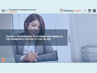 TrainingBriefs® Evaluating the Interview